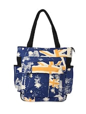 Blue Canvas Printed Handbag - By