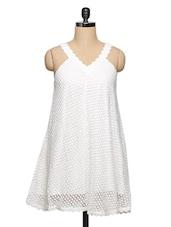 Delicate White Lace Dress - Ozel Studio