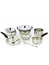 Stainless Steel Cookware Set Of 10pcs - By