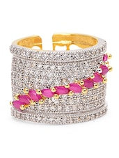Ruby American Diamond Embellished Band - By