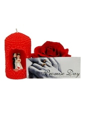 Love Candle & Rose For Valentine - Gifts By Meeta