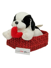Cute Doggy With Heart In Basket - Gifts By Meeta