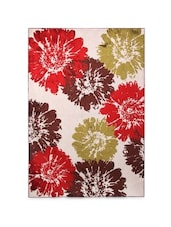 Multicolored Floral Printed Viscose Rug - By