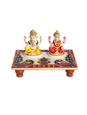 Marble Pooja Chowki with Resin Laxmi Ganesha -  online shopping for Figurines