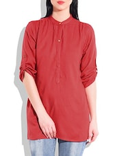 Red Rayon Tunic - By