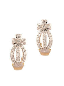 a1bc4f66e Pair Of Floral Design Studs Embellished With Cz Stones - Voylla Best ...