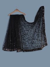 Net Saree With  Embroidery Work - Ethnictrend