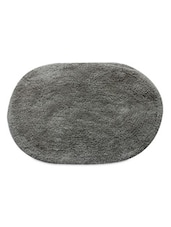 Grey Color Oval Cotton Bathmat -  online shopping for bath mats