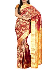 Maroon Kanchipuram Art Silk  Saree - By