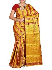 Multicolor Kanchipuram Art Silk  Saree - By