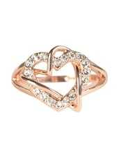 Gold Plated Lady Heart Love Ring - ESmartdeals