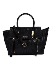 Black PU  Handbag - By