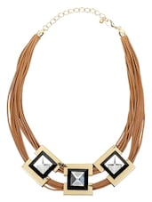 Copper,gold Brass Necklace - By