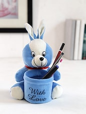 Blue Fur Soft Toy Pen Stand - By