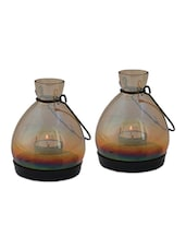 Mini Lantern - Gold Luster Set Of 2 - The Yellow Door