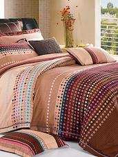Star Print Cotton Bed Linen Set - Spread