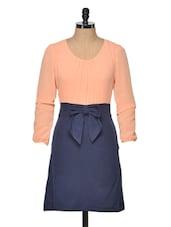 Classic Peach Bow Dress - Besiva