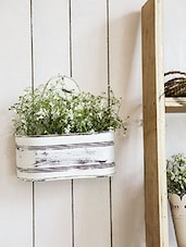 White, Burgundy Metal planter -  online shopping for Pots & Planters