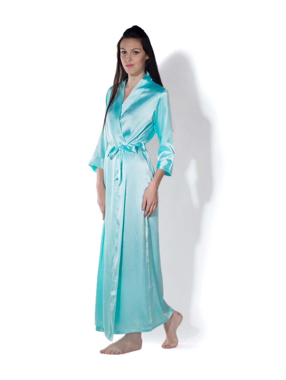 24fec323390 Buy Overlap Leisure Gown In Satin for Women from Privatelives for ₹999 at 0%  off
