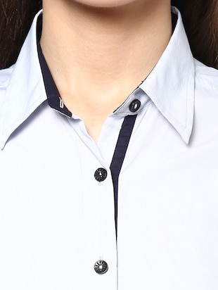 grey Cotton Shirt - 9821209 - Standard Image - 4