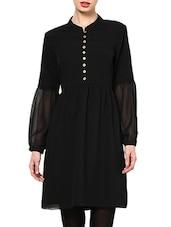 Black Button Down Tunic - MARTINI