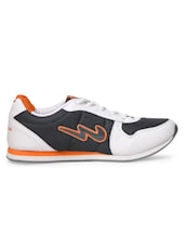 White & Grey  Sports Shoes - Campus