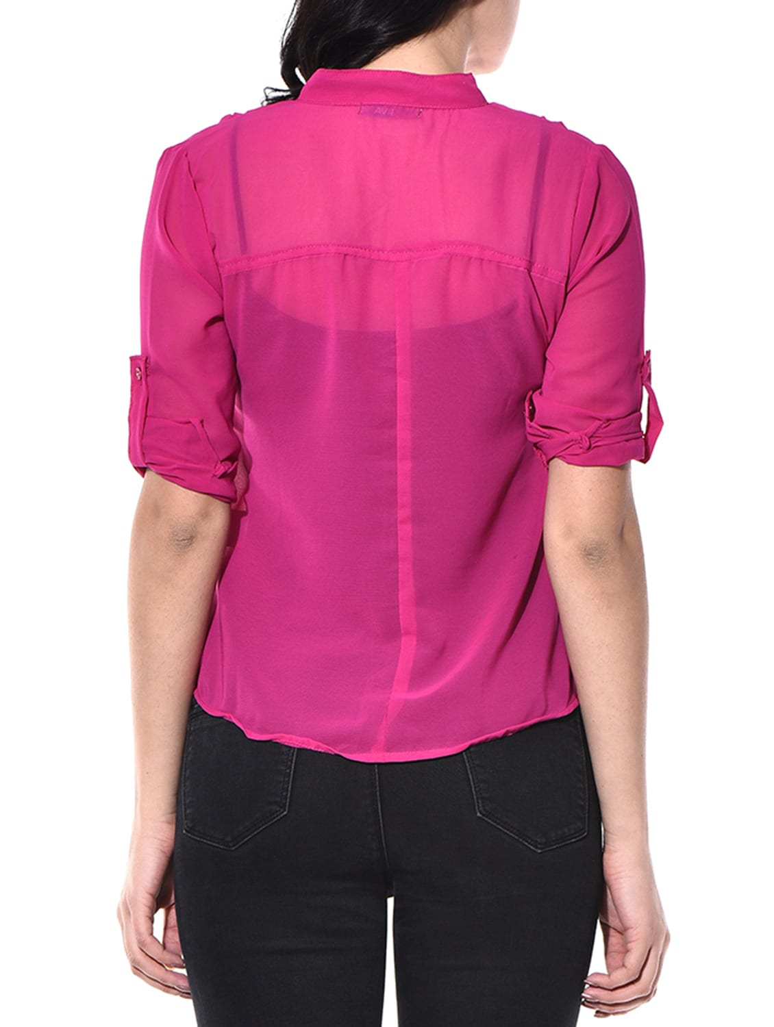 7138717622ca5 Buy Magenta Poly Georgette Shirt for Women from Aviddiva for ₹599 at 0% off