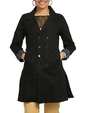 Black Cotton Winter Coat - By