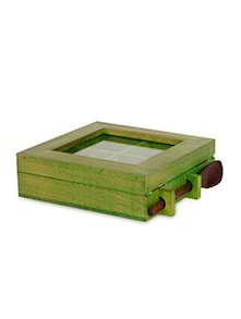 Wooden Spice Box With Spoon - ExclusiveLane