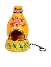 Terracotta Handpainted Hanging Tea Light - ExclusiveLane