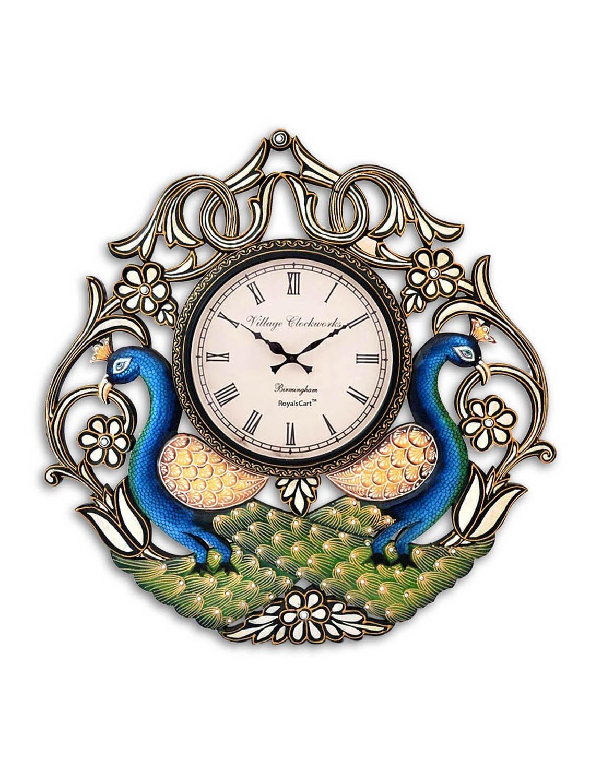 Buy Royalscart Peacock Analog Wall Clock Height 24 By Royalscart