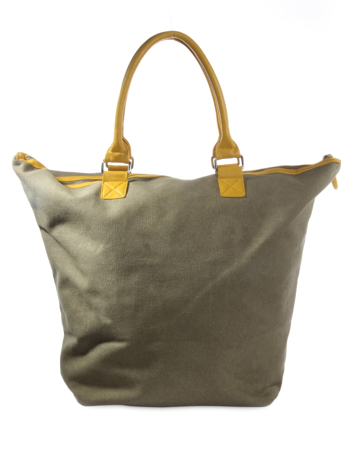 d3d8a4f85 Olive Green And Yellow Canvas Tote