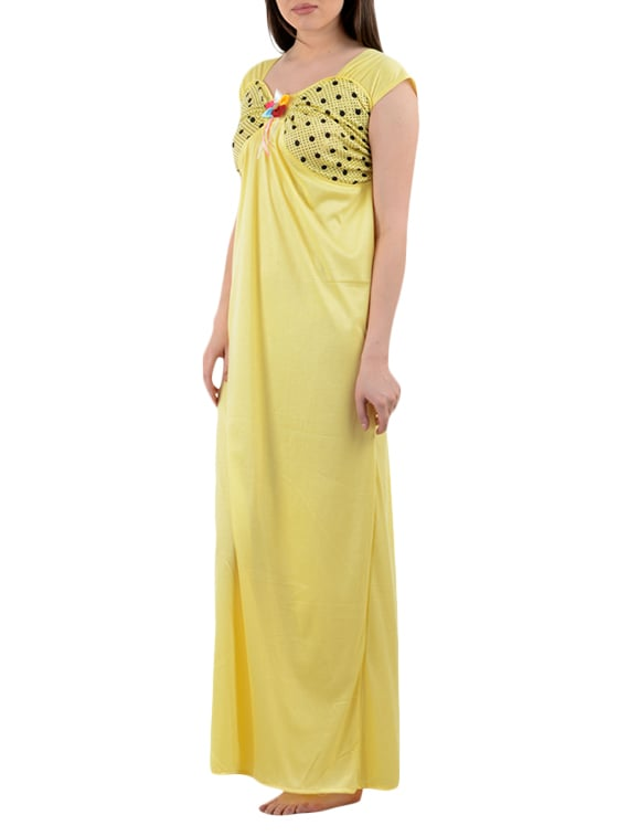 7c909be5a6 Buy Yellow Color Cotton Nighty by American-elm - Online shopping for Nightwear  in India