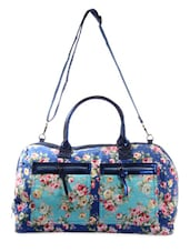 Blue Floral Print Duffle Bag - HARP