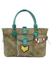 Moss Green Faux Leather Oversized Bag - HARP