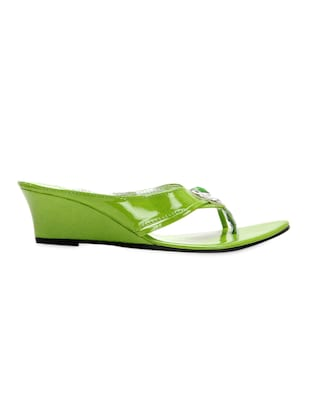 4c64c5b499ef8 Buy Leatherette Green Embellished Glossy Wedges for Women from Yepme for  ₹499 at 0% off | 2019 Limeroad.com