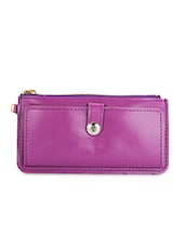 Purple Leatherette Wallet And Cardholder - By