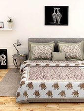 Esoft 100% Cotton Jaipuri King Size Double Bedsheet with 2 pillow cover -  online shopping for bed sheet sets