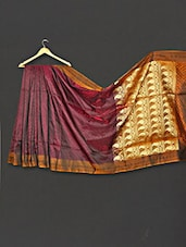 Multi Color Paisley Zari Work Art Silk Saree - WEAVING ROOTS