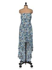 Off Shoulder Floral Printed Dress - Feyona