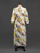 Abstract Print Shirt Dress - Rose Vanessa