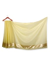 Yellow Shaded Chanderi Cotton Saree - URBAN PARI