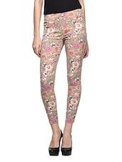 Floral Print Lycra Pants - CHERYMOYA