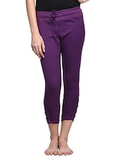 Purple Girly Track Pants - By