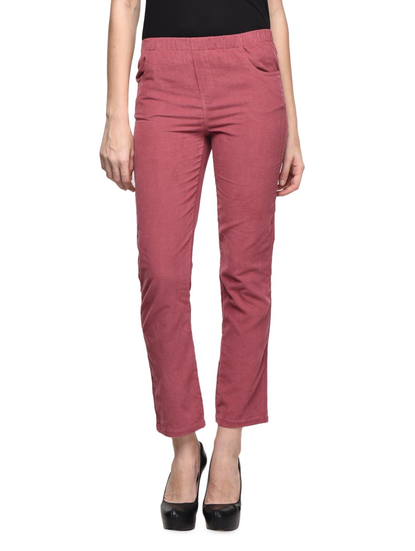 Rose Pink Evergreen Ankle Length Jeggings - CHERYMOYA