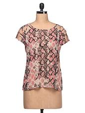 Pink Printed Top - CHERYMOYA