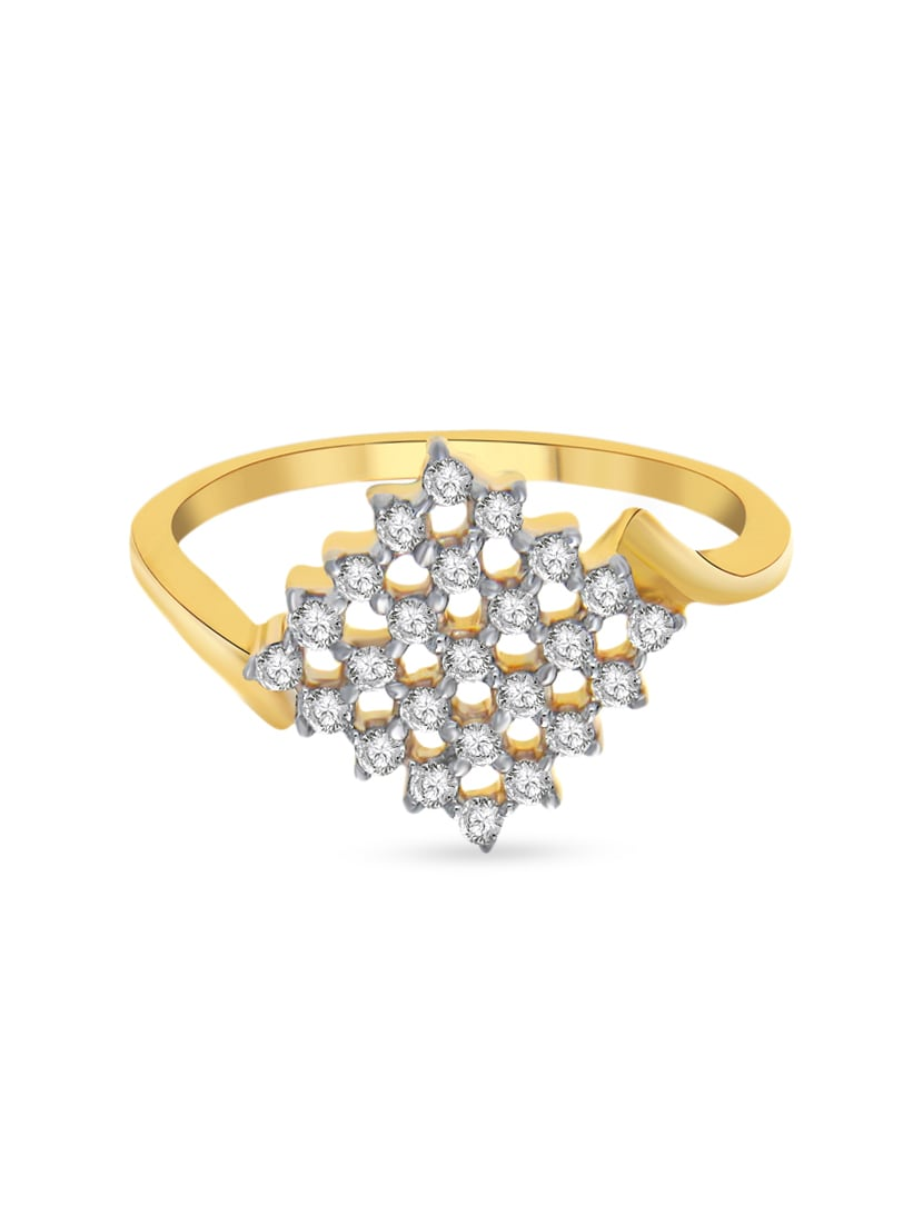 3615efcd0247e3 Buy Golden Colour Silver Ring for Women from Pooja & Sonam for ₹999 at 0%  off | 2019 Limeroad.com