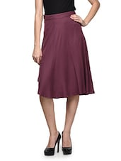 Burgandy Knee Length Skirt - Oranje