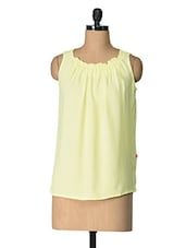 Yellow Solid Polyester Top - Tops And Tunics