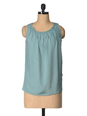Grey Solid Polyester Top - Tops And Tunics